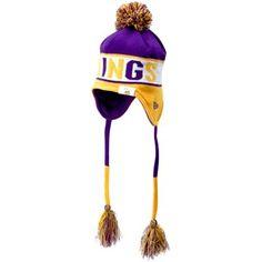 New Era Minnesota Vikings Crayon Box Knit Tassel Beanie with Pom - Purple  Gold d99ea126c