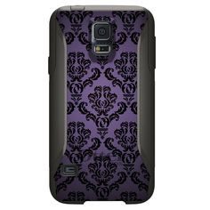 Custom OtterBox Commuter for Samsung Galaxy S5 Purple Black Damask Floral #OtterBox