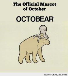 Funny october mascot Funny picture