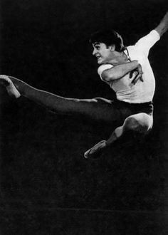 "1968. Mikhail Baryshnikov in ""The Mountain Girl"" (choreographer O.Vinogradov). Михаил Барышников в балете ""Горянка"" (хореограф О.Виноградов)"