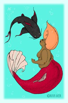 New fatoscope: PISCES!I love fat mermaids :)