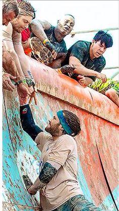Tough Mudder - Jensen helping Jared...Ok that's it...I'm dead!J2 :D