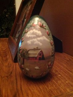 Painted Wooden Egg