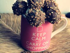 keep calm and carry on shopping , cakepops, recipe, crocanti