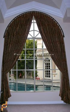 Arched Window Treatments Valances | few months back Mary with Mary's Custom Workroom contacted Precision ...