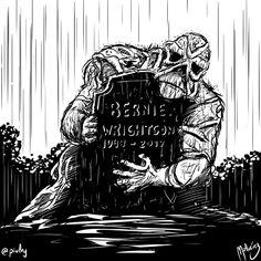 Bernie Wrightson In Memoriam : #WebcomicZ 078 : #ClipStudioPaint  #Cintiq  #: #webcomic #comics #comicdiario #dailycomic #comic #tebeo #artistsoninstagram : #DailySketch 809 #swampthing #berniewrightson #blackandwhite #rip #grave #rain #inmemoriam #triste