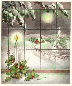 ... Vintage Christmas, Christmas Painting, Christmas Windows, Christmas