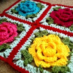 Babouska Rose Blanket Tutorial:       First Babouska Rose piece     Second Babouska Rose piece (Includes free pattern for simple Picot Scallop Edging)     Original Blanket pattern at Sewing Daisies blog     Actual motif chart found on Pinterest