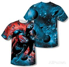 Superman - Red Sun (Front/Back Print) T-shirts - at AllPosters.com.au