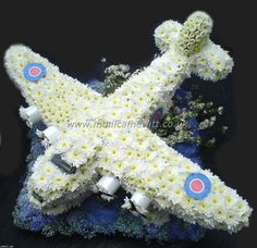 Airplane Funeral Flowers. Heritage Funeral Homes, Crematory and Memorial Parks, Arizona #funeralflowers #funeral #flowers