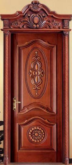 Resultado de imagen para puertas de madera con vidrio