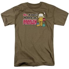 "Checkout our #LicensedGear products FREE SHIPPING + 10% OFF Coupon Code ""Official"" Garfield / No Problem - Short Sleeve Adult 18 / 1 - Garfield / No Problem - Short Sleeve Adult 18 / 1 - Price: $29.99. Buy now at https://officiallylicensedgear.com/garfield-no-problem-short-sleeve-adult-18-1"