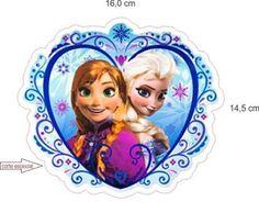 Adesivo Frozen Formato Coração Produto Personalizado +brinde - R ...