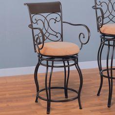 Wildon Home® Bar & Counter Swivel Stool Seat Height: 24 Inch Bar Stools, Metal Counter Stools, Counter Chair, Coaster Fine Furniture, Home Bar Furniture, Kitchen Furniture, Furniture Ideas, Recycled Furniture, Cheap Furniture