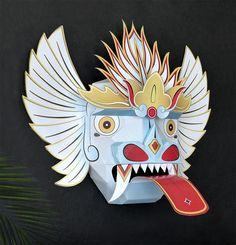 Mascara Oriental, Mascara Balinesa, Mascara de papel, Decoración pared de GraphicHomeDesign en Etsy https://www.etsy.com/es/listing/249618727/mascara-oriental-mascara-balinesa