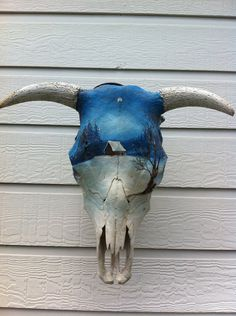 Painted Cow Skulls On Pinterest Cow Skull Art Painted