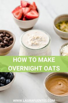 Everything you need to know to make the best overnight oats every single time: rations, toppings, add-ins, and recipes! #breakfast #mealprep #oatmeal Oats Recipes, My Recipes, Make Ahead Breakfast, Breakfast Recipes, Overnight Oats In A Jar, Meal Prep For Beginners, Mason Jar Meals, Gluten Free Breakfasts, Clean Eating Recipes