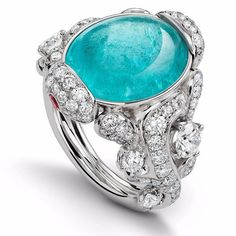 Grace of Sea Anemone ring inspired by the inner world of the mesmerising paraiba tourmaline - the latest collection by House of Gubelin @gubelinofficial #swiss #brand #houseofgubelin #ring #tourmalines #paraibas #diamonds #luxury #lifestyle #impeccable #jewelrylover #spark #gorgeous #anamone #gemstones #xmas #photography #fashion #wishlist #jewelrygram #naturalgem #classy #sleek #eyecandy #candycolours #innerbeauty #ocean #tiffanyblue #turquoise