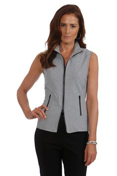 J'envie at Jonathan Fashion | FALL 2014 | striped vest