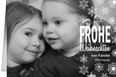 Weihnachtskarte Snowflakes Frohe Weihnachten