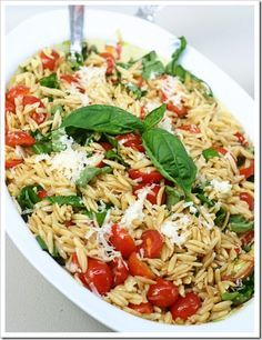 Clean eating pasta salad. We loved this! Going to try it with Mozzarella Balls and other vegetables next time. (Avocado, cucumber, etc.)
