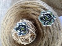 Cercei Metal Comun - EcoVintage by Aura Store, Metal, Hair Styles, Rings, Floral, Beauty, Jewelry, Fashion, Hair Plait Styles