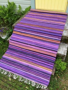 Picnic Blanket, Outdoor Blanket, Tear, Loom Weaving, Recycled Fabric, Woven Rug, Rug Making, Scandinavian Style, My Dream Home