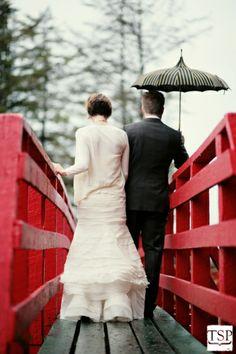Looks like they're walking in the rain. :)