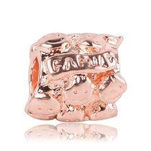 2019 New Rose Gold Blush Pink Magnolien Bloom Bead Fit Original Pandora Charms und andere Favoriten - - Pandora Charms, Pandora Rings, Diy Jewelry To Sell, Diy Jewelry Making, Rose Gold Charms, Cute Wedding Dress, Blush Pink, Fit, Bloom