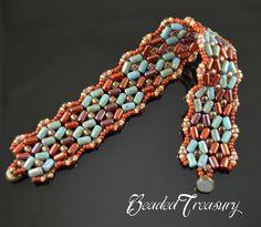 Beading tutorial rulla bead pattern bracelet by BeadedTreasury