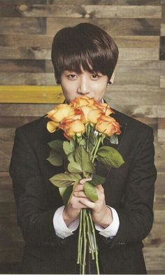 Jungkook: floral photo shoot