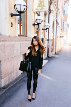 all black outfit - mariannan