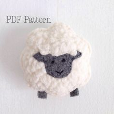 PDF Sewing Pattern - Sheep Ornament Pattern, Fleece or Felt Christmas Ornament Pattern, DIY Gift, Christmas Craft, Easy Sewing Pattern