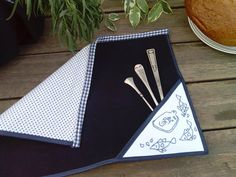 Table Mats Nautical Theme Fabric Placemat Navy Blue by XXXenia