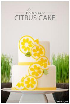 Lemon Citrus Cake tutorial by Miso Bakes  |  TheCakeBlog.com