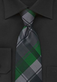 How handsome will your man look in this patterned tie? | Kennedy Blue Men's Tie KB2619 #emerald #charcoal #black