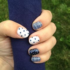 Puppy Love and Mad Mod Jamberry Nails accented with White Mini Polka Jamberry Nails http://jenny4.jamberrynails.net