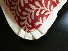 Reversible Raspberry and Cream Pillow Cover 20 x by CocomoDesigns