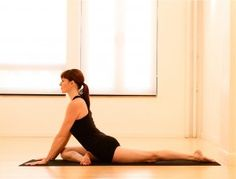 pidgeon pose... great for tight hips and glutes