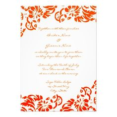 ReviewOrange & White Floral Wedding Invitationyou will get best price offer lowest prices or diccount coupone
