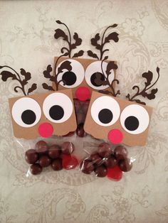 NEW Reindeer Noses Christmas Favors Christmas Candy por Kbettega