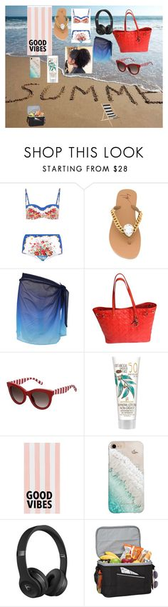 """Untitled #15"" by reenierocks1012 on Polyvore featuring Dolce&Gabbana, Giuseppe Zanotti, Miraclesuit, Christian Dior, Tommy Hilfiger, PBteen, Gray Malin, Beats by Dr. Dre, Goodhope Bags and Bloomingville"