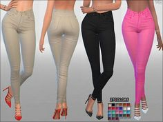 The Sims Resource: Summer Love Jeans by Pinkzombiecupcakes • Sims 4 Downloads