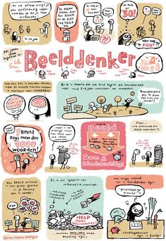 My Little Hearts: Visual thinking. Een mooie infographic over beelddenken. Illustrator: Maaike Hartjes. Site: www.maaikehartjes.blogspot.nl