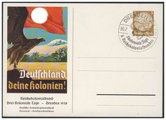 """Germany, German Empire, """"Deutschland deine Kolonien"""", GA-Privat-Postkarte, 3 Pfg. mit Blanko-Sonderstempel, ungebraucht, I. Price Estimate (8/2016): 20 EUR. Unsold."""