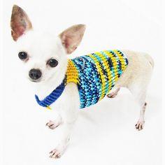 Perro arnés chaleco Choke XXS gratis ropa para mascotas por myknitt