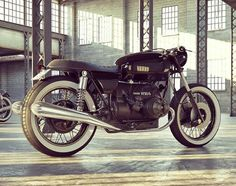 Bmw Brat Style Rendering by Vis Maior #bratstyle #motorcycles #motos   caferacerpasion.com
