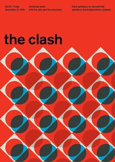 """This poster is interesting because to me the design isn't really """"clashing"""" in my opinion. If I were to be representing the clash through design, I would have done something slightly more chaotic. However, I still appreciate the design here. Poster Design, Graphic Design Posters, Graphic Design Typography, Graphic Design Illustration, Graphic Design Inspiration, Layout Design, Design Art, Print Design, International Typographic Style"""