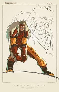 Sketches @ Midnight 016 by RobDuenas on DeviantArt Marvel Comics Art, Marvel X, Marvel Heroes, Marvel Characters, Wolverine Art, X Men, Comic Books Art, Comic Art, Drawing Tips