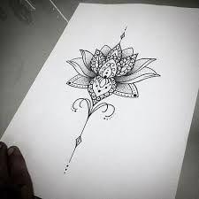 Resultado de imagem para flor de lotus com mandala nas costas